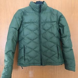 Eddie Bauer Down Jacket Sz M Dark Green